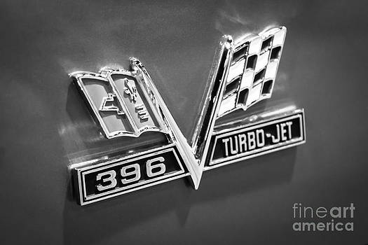 Paul Velgos - Chevy 396 Turbo-Jet Emblem Black and White Picture