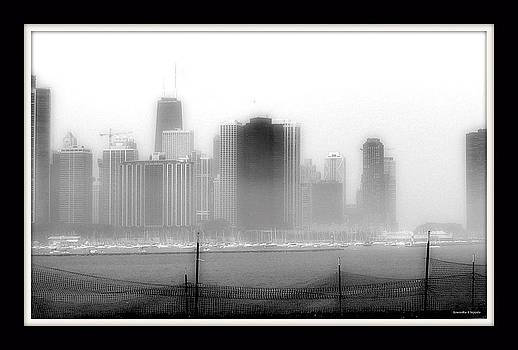 Rosemarie E Seppala - Chicago  Black N White While Under Consturction In The Fog