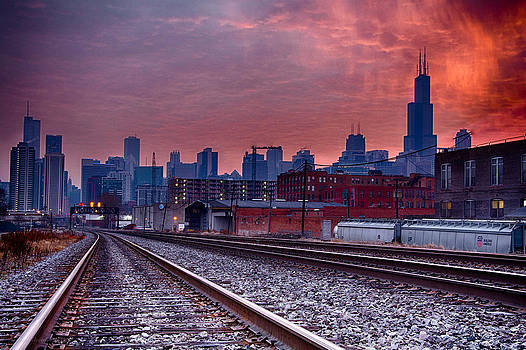 Chicago Bound 12-2-13 Sunrise  by Michael  Bennett