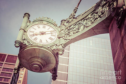 Paul Velgos - Chicago Clock Vintage Photo