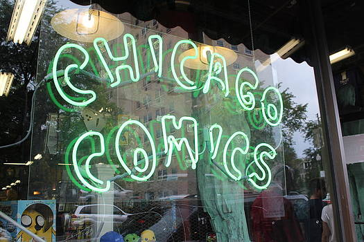 Chicago Comics Neon by Deanna King