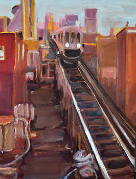 Chicago El by Julie Todd-Cundiff