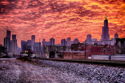 Chicago Fire - Sunrise Chicago by Michael  Bennett