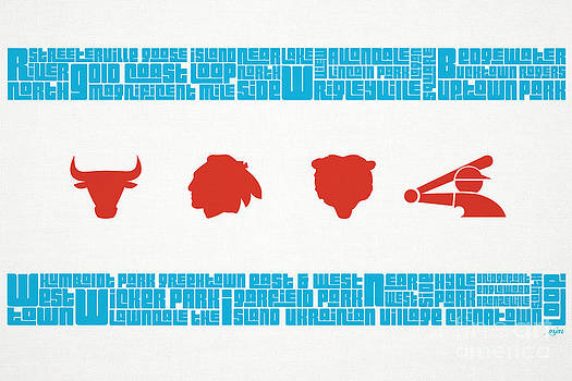 Chicago Flag Sports Teams V2 by Mike Maher