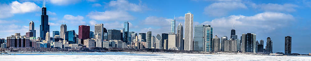 Chicago Panoramic Skyline Shot 2-16-14 by Michael  Bennett