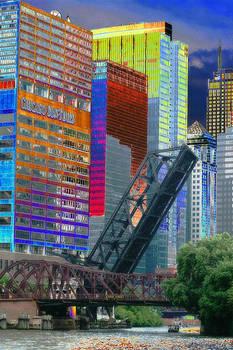 Chicago River Architecture by Paul Szakacs