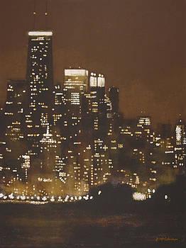 Chicago Skyline Aglow by Joseph Catanzaro