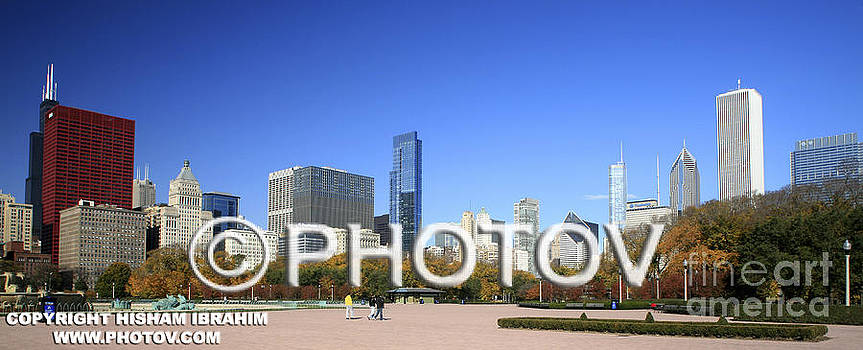 Chicago Skyline and Millennium Park - Limited Edition by Hisham Ibrahim