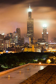 Chicago Skyline from the Rooftop by Gregory Ballos