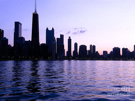 Sophie Vigneault - Chicago Skyline in Purple