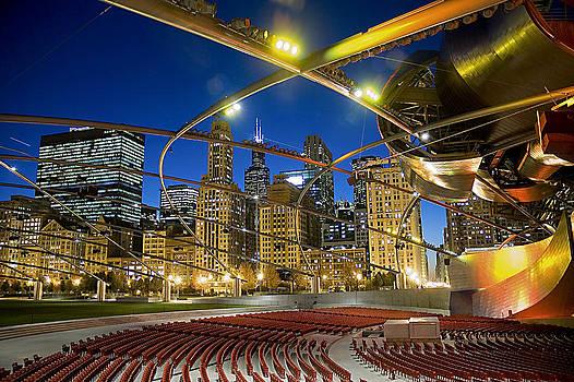 Chicago Skyline  Millennium Park by Patrick  Warneka