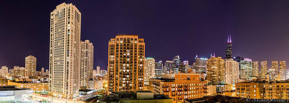 Chicago Skyline Photography October 2014 by Michael  Bennett