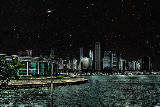 Chicago Starry Night by Dancin Artworks