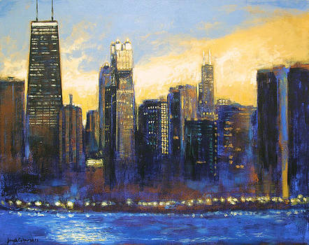 Chicago Sunset Looking South by Joseph Catanzaro
