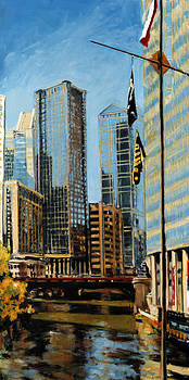 Chicago - The River from the East by Robert Reeves