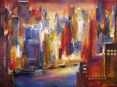 Chicago -The River View by Kathleen Patrick