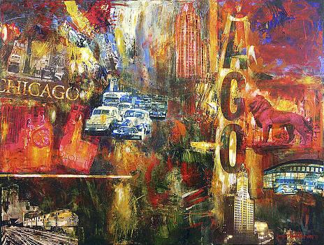Chicago Vintage Art - Old Chicago by Joseph Catanzaro