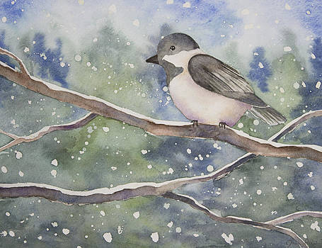 Chickadee in the Snow by Jordan Parker