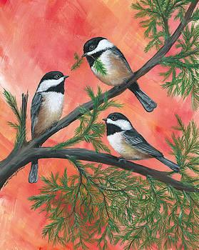 Chickadee Trio by Christine StPierre