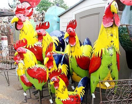 Chicken Family by Charlene Reinauer