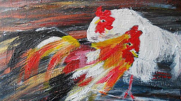 Chicken fun by Jacqueline Hickey