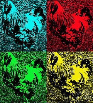 Chicken Pop Art by Annette Allman