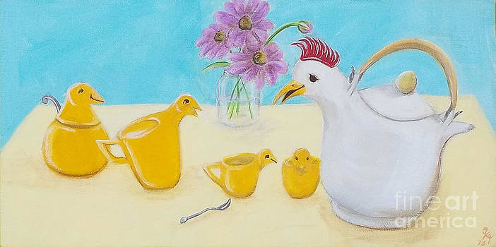 Chicky Tea Set by Georgia Griffin