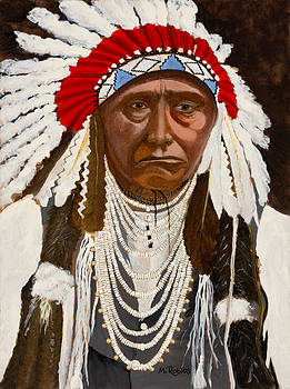 Chief Joseph of the Nez Perce by Mike Robles