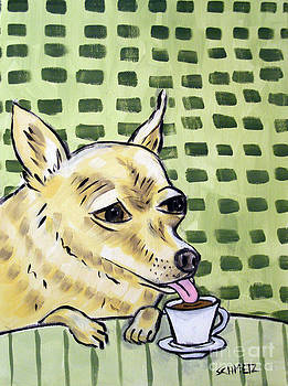 Chihuahua at the Coffee Shop by Jay  Schmetz