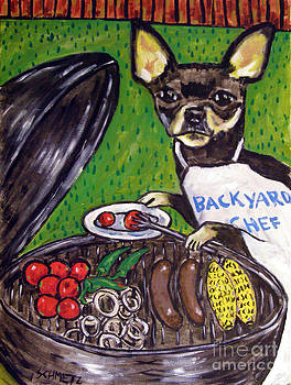 Chihuahua at the Cook Out by Jay  Schmetz