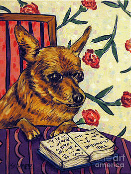 Chihuahua at the Library by Jay  Schmetz