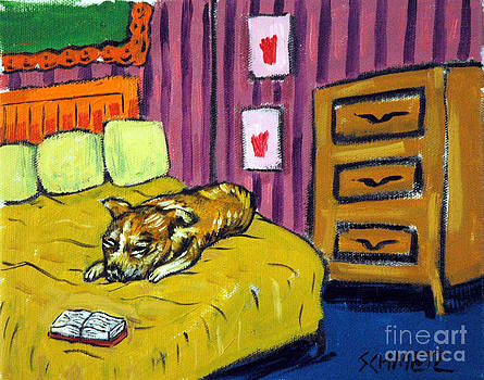 Chihuahua in the Bedroom by Jay  Schmetz