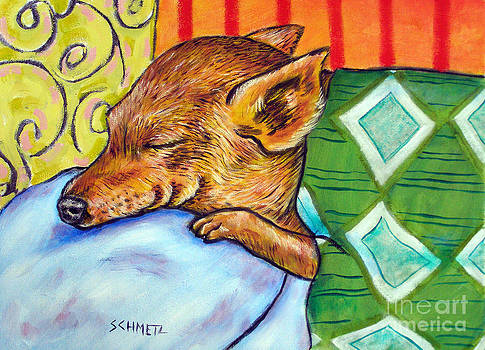 Chihuahua Sleeping by Jay  Schmetz