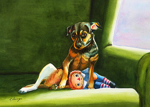 Chihuahua, Dog on Couch by Rachel Armington