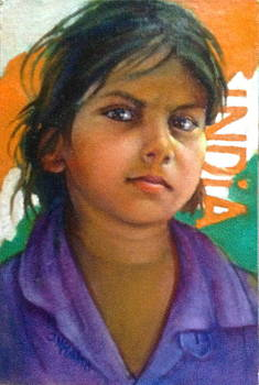 Child from India by Janet McGrath