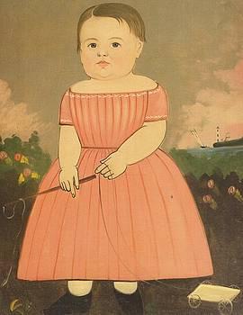 Child With Pull Cart by Sturtevant Hamblen