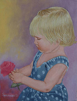 Child with Rose by Ann Arensmeyer