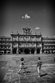 Children at Play in Salamanca by Tom Bell