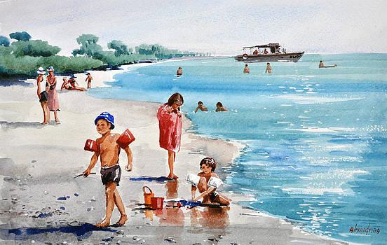 Children on the beach by Irina Alexandrina