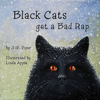 Childrens Book  BLACK CATS by Linda Apple