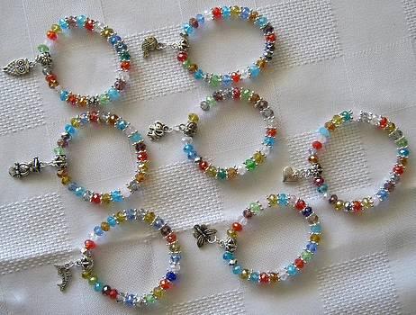 Children's Handmade Crystal Bracelets by Fatima Pardhan