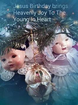 Child's Christmas card by Toni McFadden