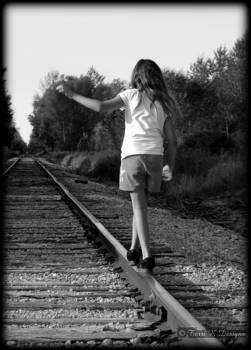 Childs play on tracks by Terri K Designs