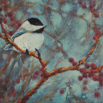 Chilly Chickadee by Gina Grundemann
