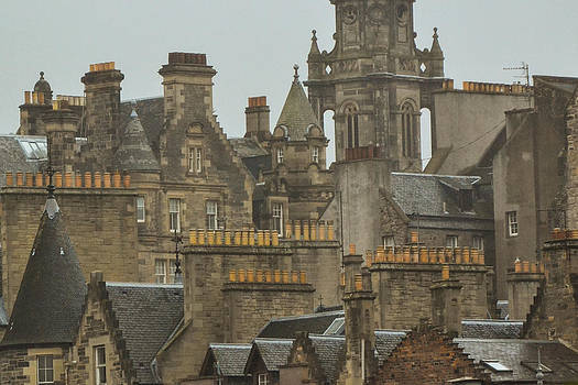 Chimney pots of Edinburgh by Bill Mock