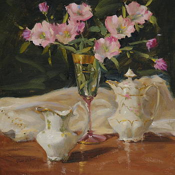 China and Primrose by Judy Crowe