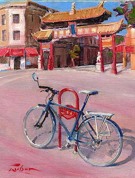 Chinatown Bicycle by Ron Wilson
