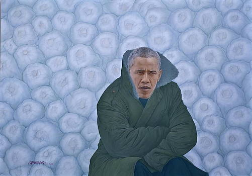 Chinese Citizen Barack Obama is waiting for selling Chinese cabbage by Tu Guohong
