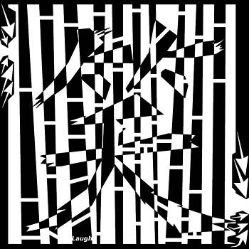 Chinese Letter Laugh Maze  by Yonatan Frimer Maze Artist