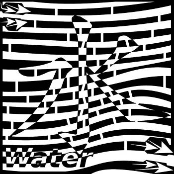 Chinese Letter Water Maze by Yonatan Frimer Maze Artist
